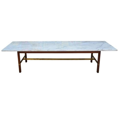 Marble And Brass Coffee Table by Paul Mccobb Marble And Brass Coffee Table At 1stdibs