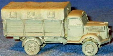 opel blitz cer old glory miniatures opel blitz truck canvas cover wvg 16