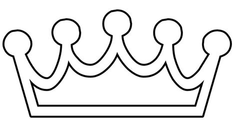 printable crown to color free printable princess crown template clipart best
