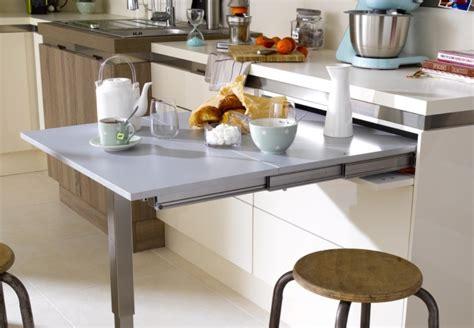 table pour cuisine 騁roite am 233 nagements gain de place pour cuisine