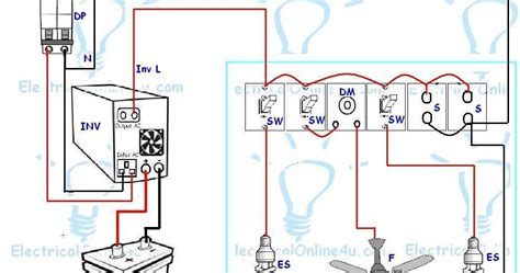 3 phase ups battery connection diagram ups inverter wiring diagram for one room office