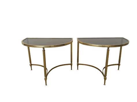 vintage brass side table vintage brass side tables 1970s set of 2 for sale at pamono