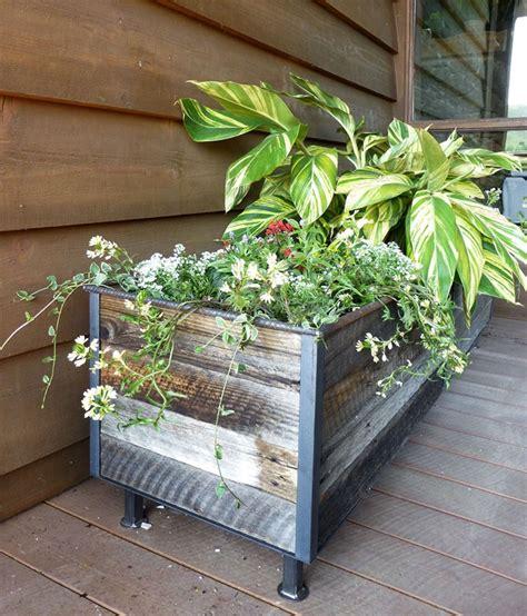 reclaimed wood planter reclaimed planter repurposed material