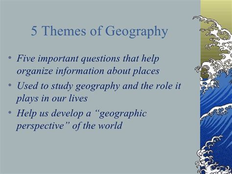 5 themes of geography quiz ppt 5 themes power point