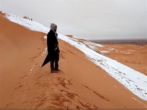 snowfall in sahara desert snow falls in sahara desert for third time in 40 years