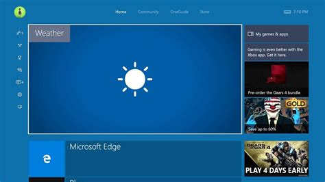 Msn Xbox360 msn weather app uwp xbox one preview build