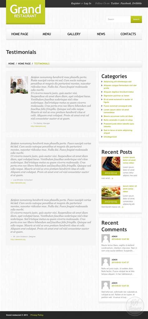 grand restaurant 2 review a wordpress restaurant theme by