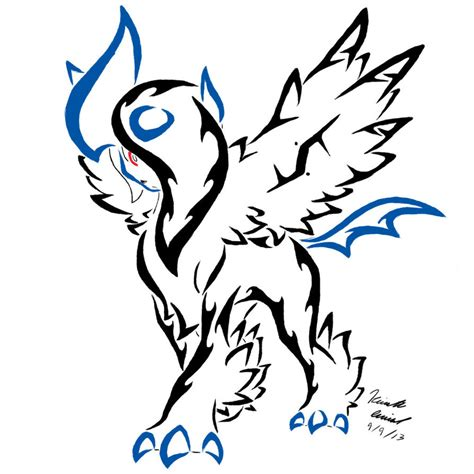 mega absol tribal tattoo by archangelvampire on deviantart