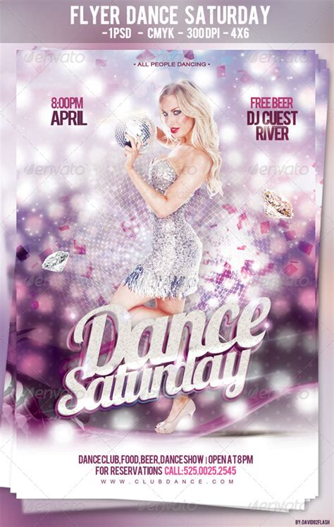 flyer dance saturday psd graphicriver