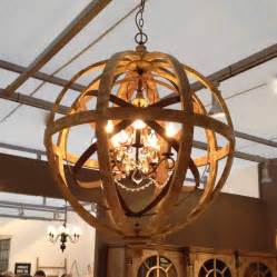 Large Wooden Orb Chandelier Wooden Orb Chandelier Metal Orb Detail And By