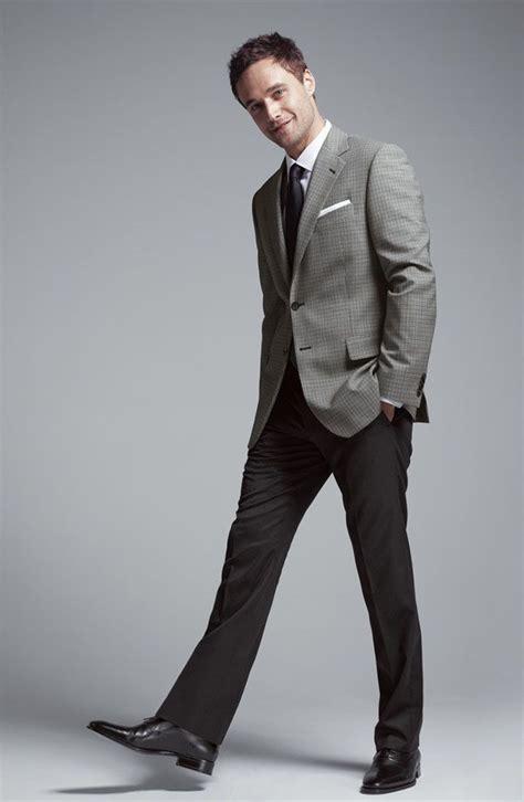 Polo Shanghai Grey Mix Darkgrey gray sport coat black trousers tie clothes