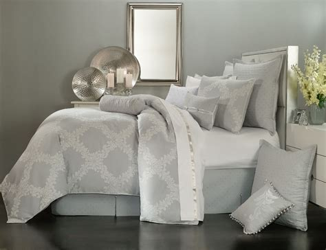grey white comforter acanthus arbor grey by waterford luxury bedding