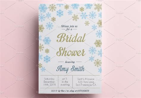 winter themed wedding shower invitations 40 bridal shower invitation exles
