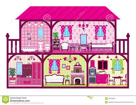 cartoon doll house house in a cut stock vector image of cutout plan design