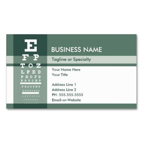 Doctor Business Card Template by 270 Best Eye Doctor Business Cards Images On