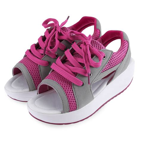 open toe athletic shoes new sport sandals lace up sneaker peep toe trainer
