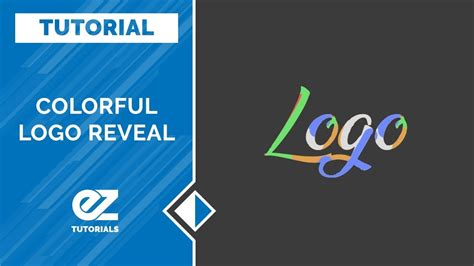 tutorial logo reveal after effects how to create a colorful logo reveal after effects