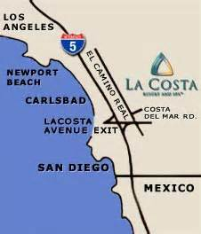 la costa california map la costa resort spa san diego california golf resort