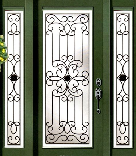 Wrought Iron Door Inserts by Stained Glass Door Inserts And Wrought Iron Door Inserts