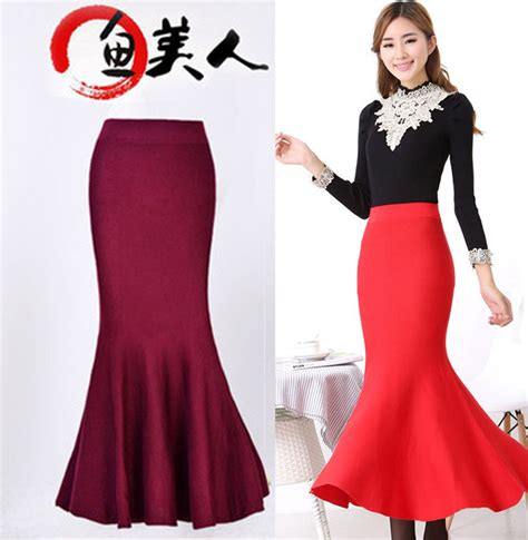 2015 new pencil skirts ankle length high waisted