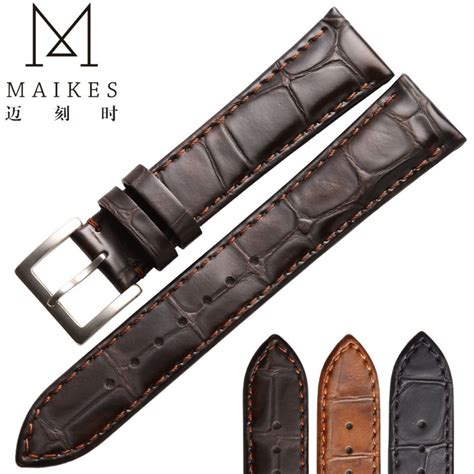 High Quality Leather Snks 18mm 20mm 22mm Tali Jam Kulit Asli maikes high quality genuine leather 18mm 20mm 22mm brown band for