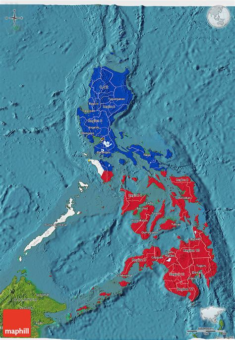 map philippines satellite flag 3d map of philippines satellite outside