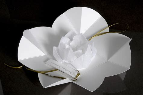 Origami Black Lotus - origami lotus flower invitation by paperbird design