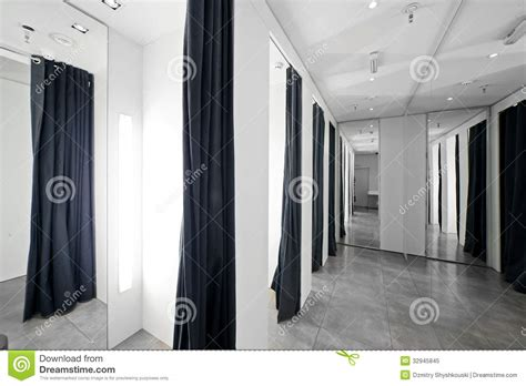 Clothes Changing Room by Dressing Room In Clothes Store Royalty Free Stock Photo