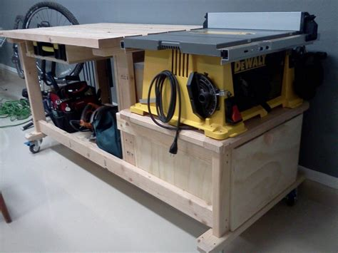 table saw bench plans latest project table saw workbench techtalk speaker