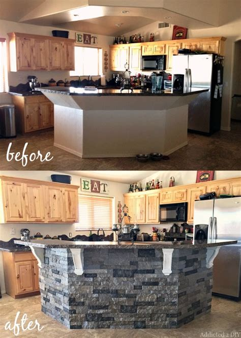 Oak Creek Floor Plans before and after diy kitchen island makeover addicted 2 diy