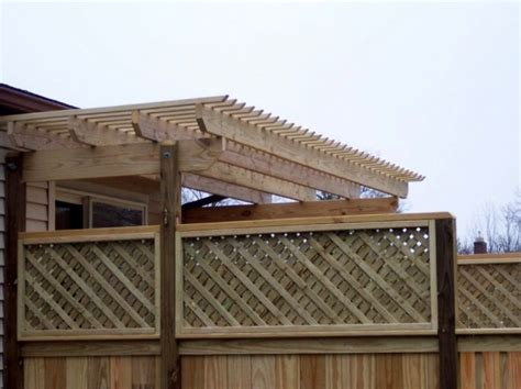 21 Best Images About Decks With Pergolas Trellis On Pergola Privacy Fence