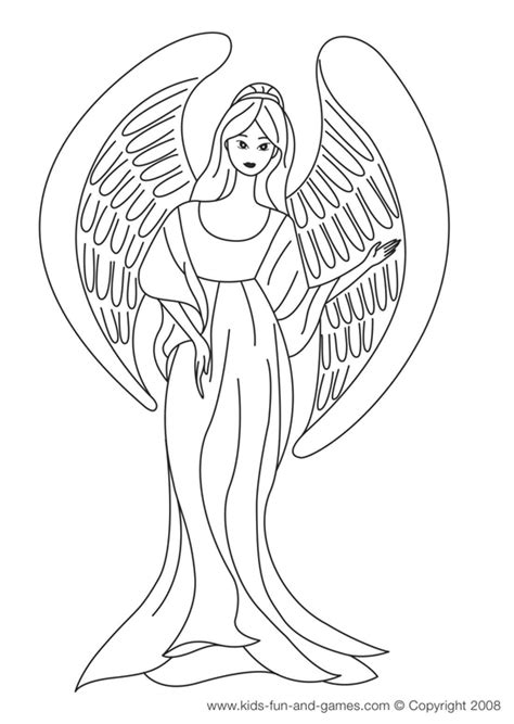coloring book pages of angels free angel coloring pages letscoloringpages com angel