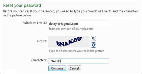 windows reset my password how do i reset my windows live password ask dave taylor