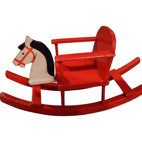 dolls house rocking horse vintage wooden doll house rocking horse germany from eleanorslegacy on ruby lane
