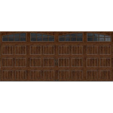 Clopay Gallery Collection 16 Ft X 7 Ft 18 4 R Value Insulated Garage Doors Home Depot