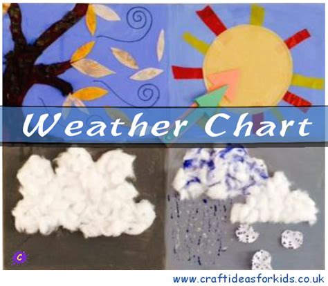 weather crafts for weather chart craft ideas for