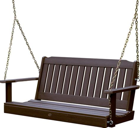swing set plastic highwood outdoor synthetic plastic wood porch swing set