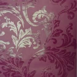 Designer selection acanthus berry wallpaper purple plum designer