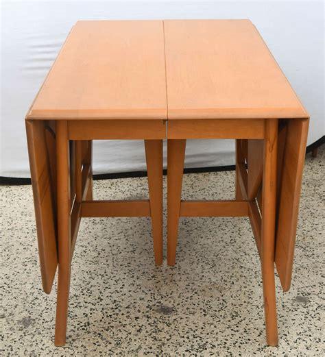 maple drop leaf table maple heywood wakefield drop leaf dining table 1950s
