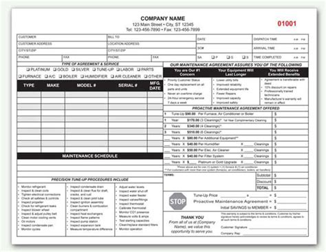 Hvac Contract Custom Hvac Contract Form Custom Printing Ac Service Contract Template