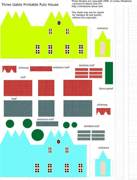 printable christmas houses 9 best images of simple miniature printable houses
