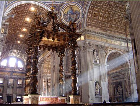 baldacchino san pietro cosa vedere nella basilica di san pietro in vaticano