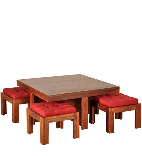 Wood Coffee Table Sets Queretaro Solid Wood Coffee Table Set In Provincial Teak Finish With Mudramark By Mudramark