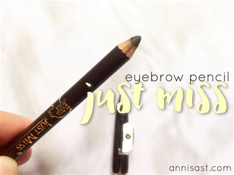 Harga Emina Eyebrow Pencil review pensil alis just miss 708a brown annisast