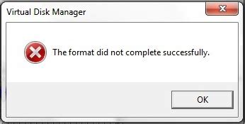 format hard drive did not complete successfully 3 ways to solve the format did not complete successfully