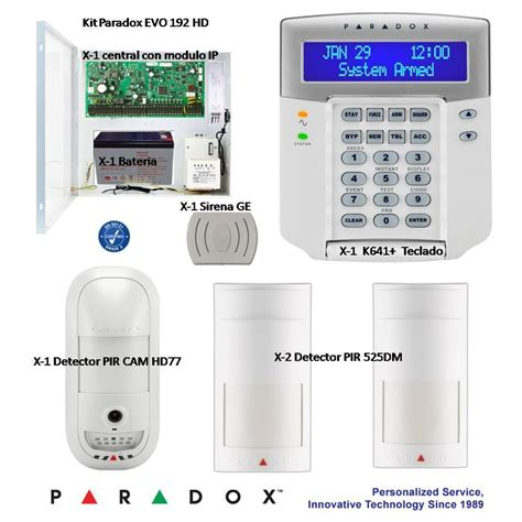 Alarm Paradox paradox security kit with hd 1 3 mp detector module ip