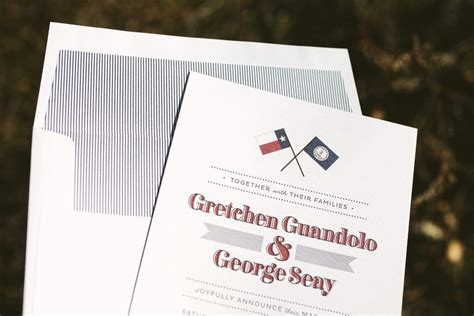 letterpress wedding announcement custom fanfare letterpress wedding announcements
