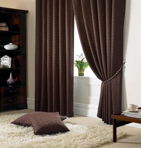 drapes lined jacquard check brown lined pencil pleat curtains drapes 9