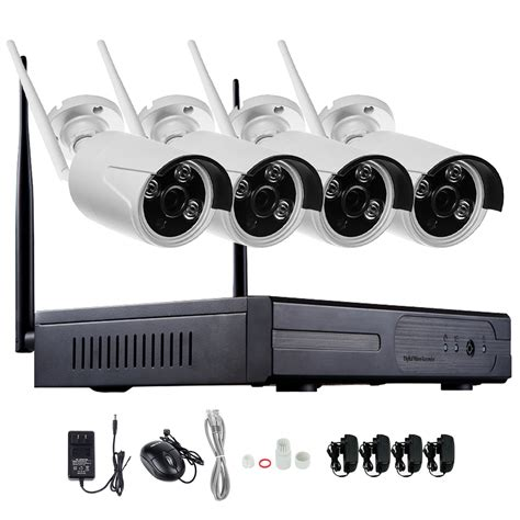 Cctv Outdoor Wireless 1080p 4ch wireless nvr cctv system wifi 2 0mp ir outdoor
