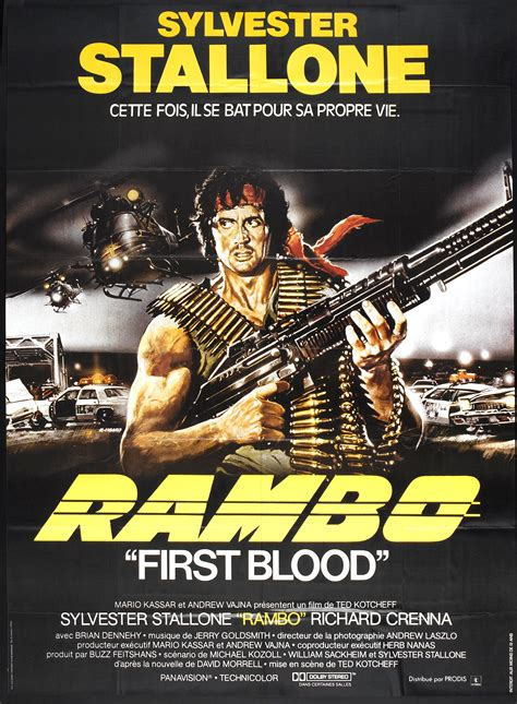 film rambo first blood rambo first blood film poster movie night pinterest